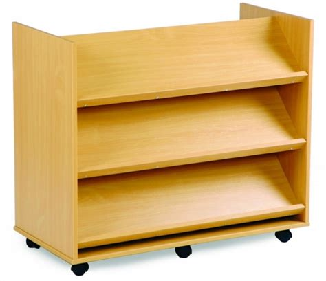 book storage mobile book storage trolley 3 straight shelves both