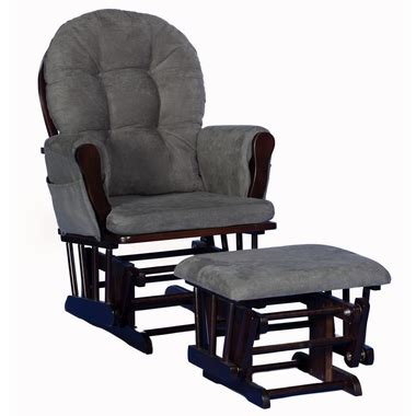 Storkcraft Hoop Glider And Ottoman In Espresso With Gray Stork Craft Hoop Glider And Ottoman Replacement Cushions