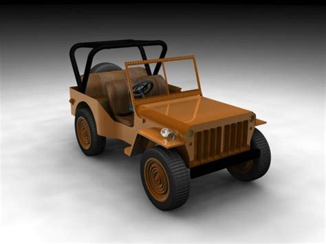 Moga Jeep Rates Willys Jeep Us Army Car Vehicle Max 3ds Max