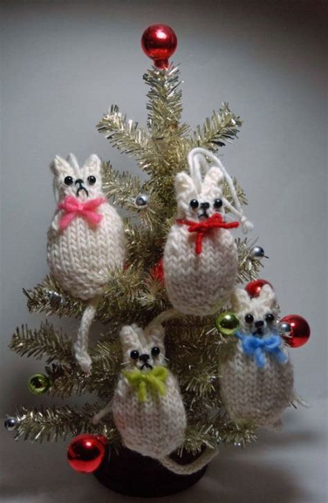 colorful knitted christmas ornaments ideas magment