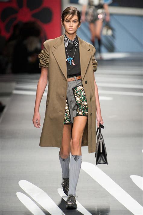 kaia gerber prada 18 moments from kaia gerber s fashion month debut