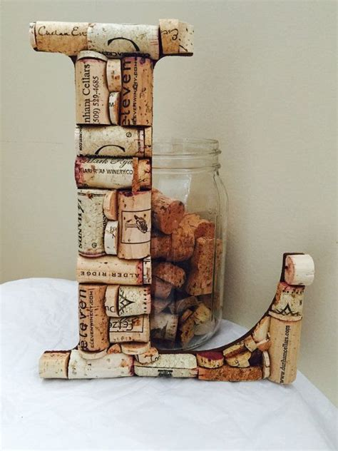wine cork letter cork letter home decor wedding shower