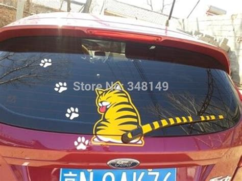 Stiker Sticker Wiper Belakang Kucing 6 x car decoration cat moving window wiper sticker rear windshield stickers and decals for