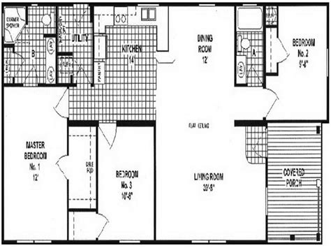 4 bedroom single wide floor plans bedroom double wide legacy housing wides floor plans also