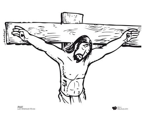 imagenes de jesus en la cruz para colorear via crucis cruz dibujalia dibujos para colorear