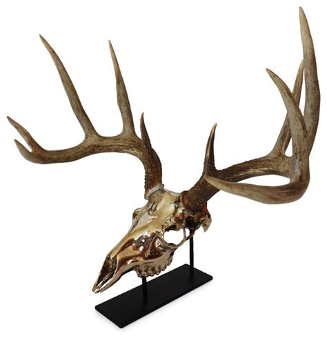 Southwestern Bathroom Rugs Mule Deer Bronze European Mount Southwestern