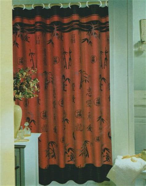 oriental drapes asian shower curtains shower curtains outlet