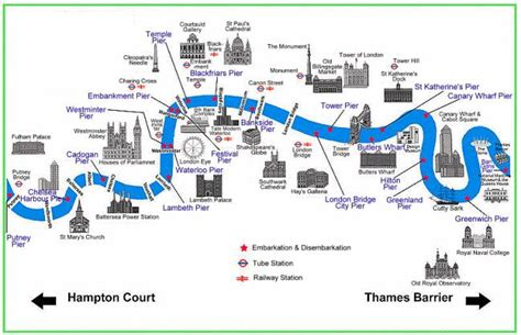 boats from westminster pier to hton court map of the river thames this map shows many of the