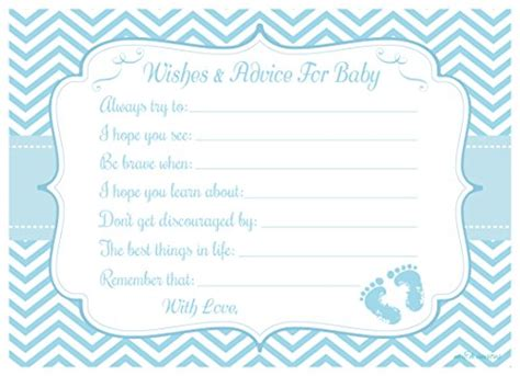blue baby feet wishes and advice for baby cards baby