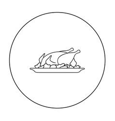 Roast Chicken Outline by Roast Chicken Outline Royalty Free Vector Image