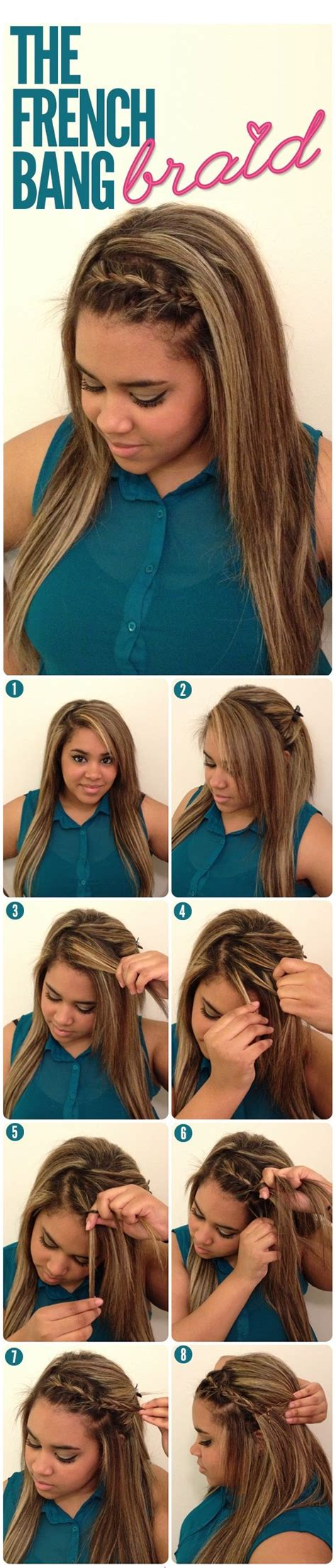 french braid bangs step by stoe 33 best step by step hairstyles images on pinterest