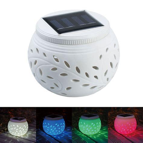 Led Globe Lights Outdoor Solar Ceramics Garden Table Globe Led White Color Sensor Light Outdoor L Ebay