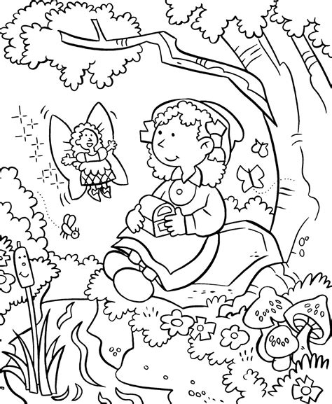my little house anna and the flower garden coloring pages