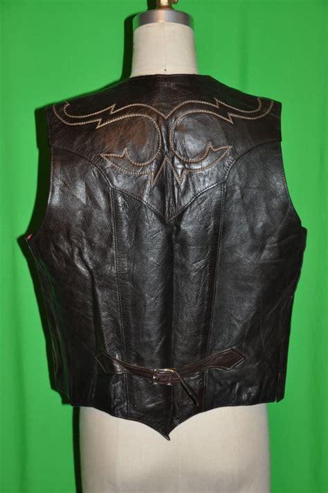 Handmade Leather Vest - handmade patchwork embroidered leather vest at 1stdibs