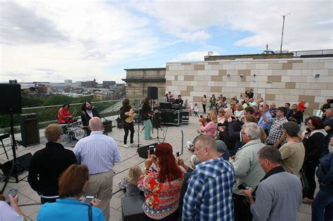 liverpool central library roof terrace beatles rooftop gig recreated at liverpool central
