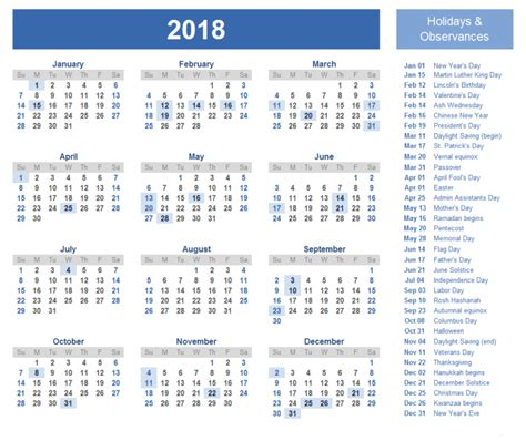 printable calendar 2018 with public holidays holiday calendar 2018 national holidays 2018 federal