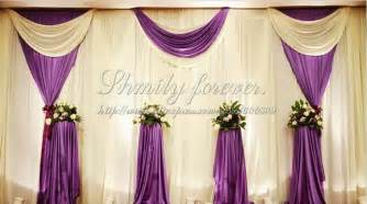 Wedding Backdrop Curtains Aliexpress Buy Pretty Elegeant White Purple 6m