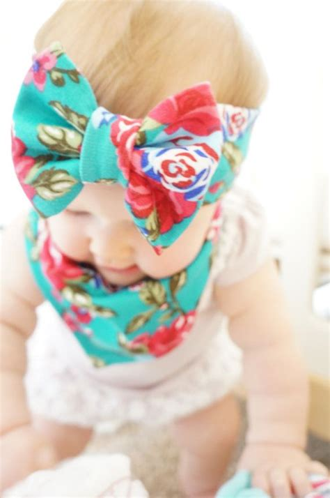 Handmade Baby Headband - handmade baby bow headband and bandana bib bravely