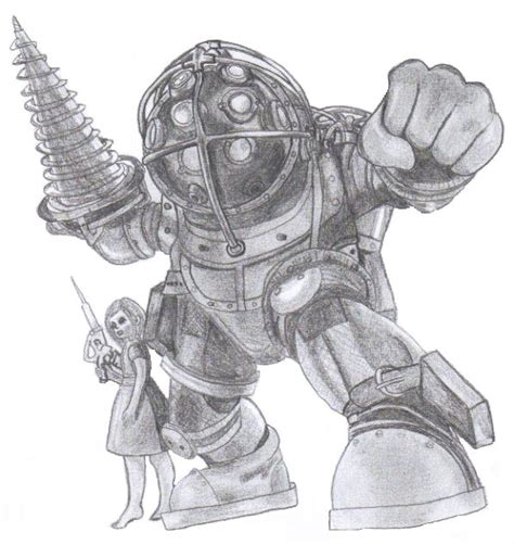 bioshock big daddy by poisonapple1982 on deviantart