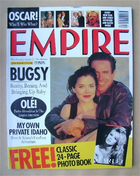 Cover Bening empire magazine bening and warren beatty cover april 1992 issue 34