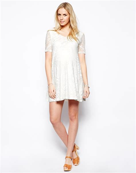 maternity swing dress asos maternity exclusive swing dress in lace with v neck