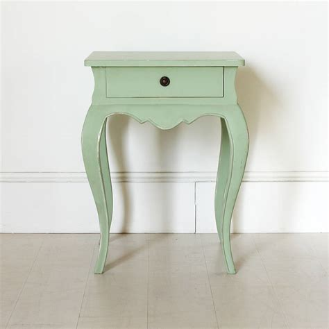 vintage bedside table vintage green french bedside table by out there interiors
