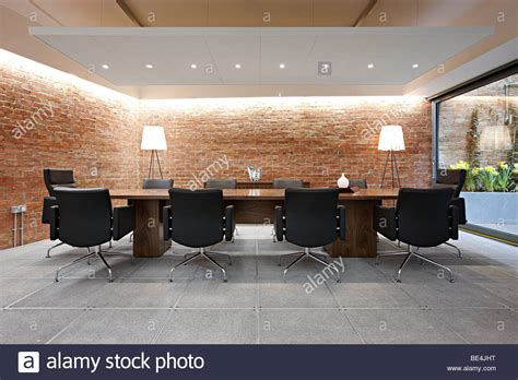 Executive Conference Room by Executive Meeting Room Conference Table Stock Photo
