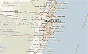Miami Lakes Map by Miami Lakes Location Guide
