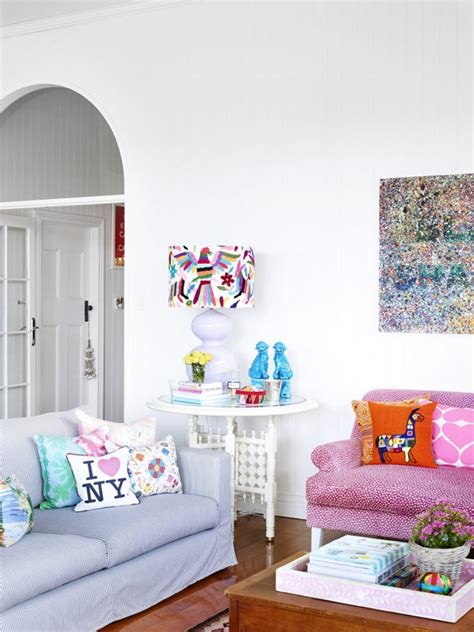 pink sofa brisbane helen and chris bayley and family the design files