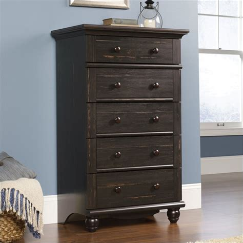 Sauder 5 Drawer Chest by Sauder Harbor View 5 Drawer Chest Antiqued Paint 401323