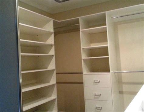 drawers amp shelves in walk in robe encore wardrobes