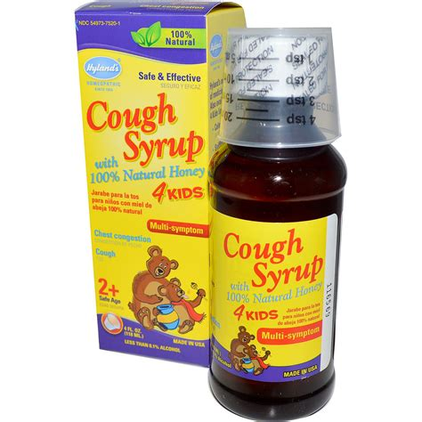 couch syrup hyland s cough syrup 4 kids with 100 natural honey 4