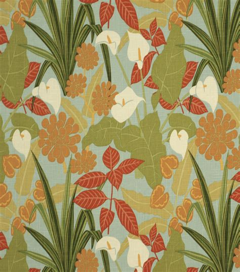 Robert Allen Home Decor Fabric by Home Decor Print Fabric Robert Allen Rowlily Palm Beach