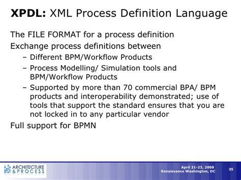 workflow definition language bpm workflow in the new enterprise architecture