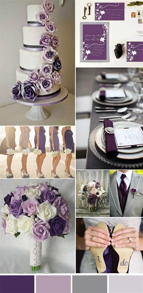 five beautiful wedding colors in shades of grey wedding