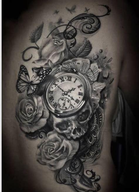 Tattoo Flower Clock | clock flower tattoo tattoos that i love pinterest