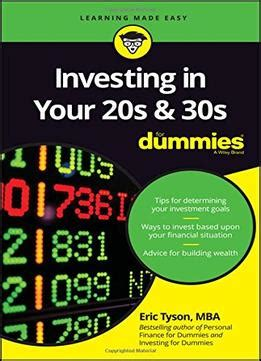 investing in your 20s and 30s for dummies for dummies business personal finance books investing in your 20s and 30s for dummies