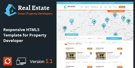 Real Estate Responsive Html5 Template For Property Developers Jogjafile Real Estate Development Website Templates