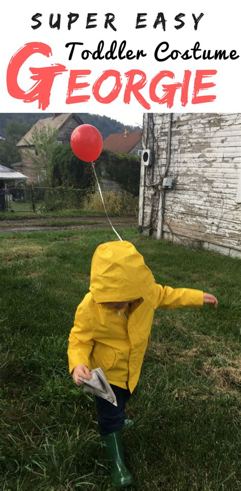 easy toddler halloween costume  georgie bit bauble