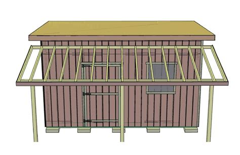 How To Build A Shed Roof Overhang by How To Add A Porch Overhang To Your Shed