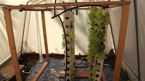 how to build a vertical growing tower for aquaponics or