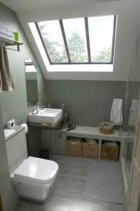 une salle de bains sous les toits
