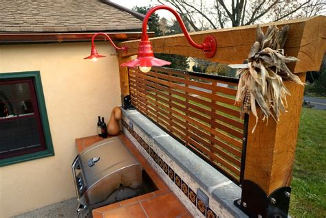 Outdoor Kitchen Lights Sassy Gooseneck Lights Dress Up Outdoor Kitchen And Patio Barnlightelectric