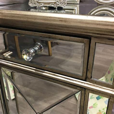 belfry  drawer  door antique gold mirrored cabinet