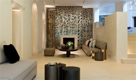 black feature wall living room house contemporary living room by lighting design international