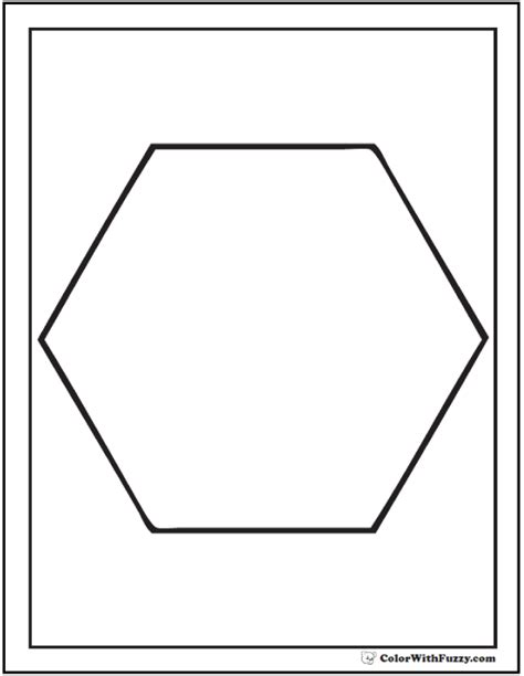 Shape Coloring Pages Customize And Print Hexagon Coloring Page