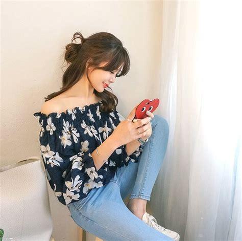 Kaos Liburan Summer Time 12 style floral ala cewek korea anggun dalam
