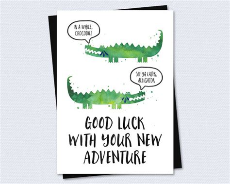 Farewell Card Goodbye Card Good Luck With By Printable Farewell Card