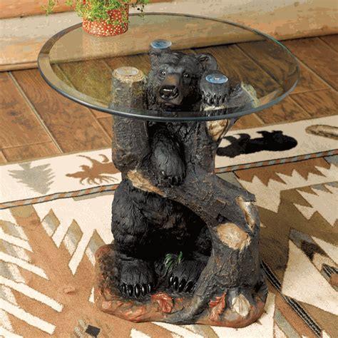 black bear table ls bear sculpture table