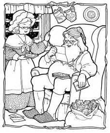 Kids printable santa coloring page christmas the